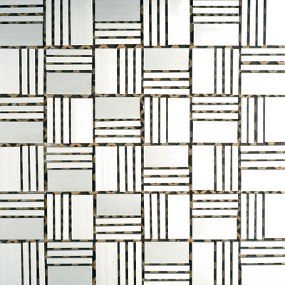 Metal Border Pure Metal Sam Mosaic Satin Tile & Stone