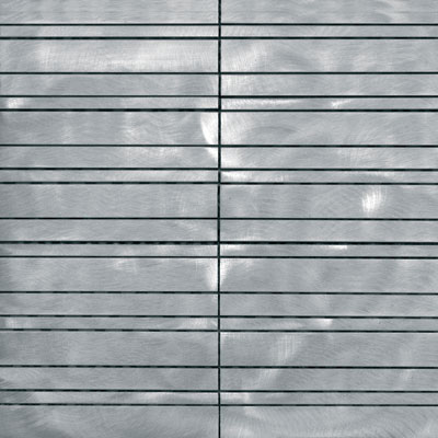 Metal Border Pure Metal Samos Mosaic Graffiato/Brushed Tile & Stone