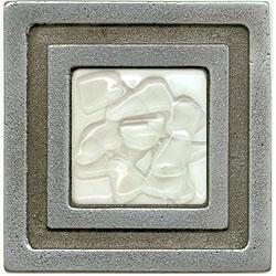 Miila Studios Aluminum Milan 4 x 4 Milan With White Brandy Tile & Stone