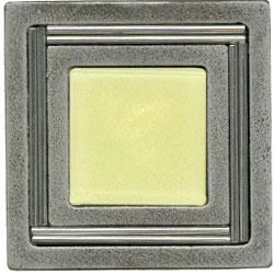 Miila Studios Aluminum Monte Carlo 4 x 4 Monte Carlo Light Lemon Tile & Stone