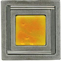 Miila Studios Aluminum Monte Carlo 4 x 4 Monte Carlo Sunburst Tile & Stone