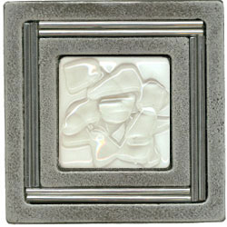Miila Studios Aluminum Monte Carlo 4 x 4 Monte Carlo With White Mist Tile & Stone