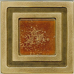 Miila Studios Bronze Milan 4 x 4 Milan With Dark Amber Tile & Stone