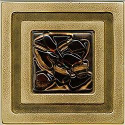 Miila Studios Bronze Milan 4 x 4 Milan With Earth Crystal Tile & Stone