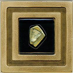 Miila Studios Bronze Milan 4 x 4 Milan With Green Amber Tile & Stone