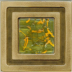 Miila Studios Bronze Milan 4 x 4 Milan With Green Tiger Tile & Stone