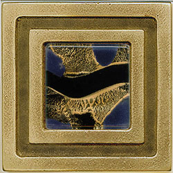 Miila Studios Bronze Milan 4 x 4 Milan With Gypsy Gold Tile & Stone