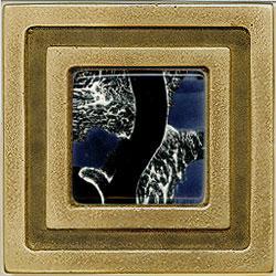 Miila Studios Bronze Milan 4 x 4 Milan With Gypsy Silver Tile & Stone