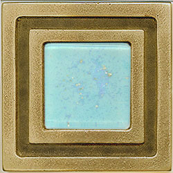 Miila Studios Bronze Milan 4 x 4 Milan With Light Teal Tile & Stone