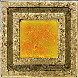 Miila Studios Bronze Milan 4 x 4 Milan With Sunburst Tile & Stone