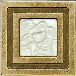 Miila Studios Bronze Milan 4 x 4 Milan With White Mist Tile & Stone