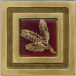 Miila Studios Bronze Milan 4 x 4 Milian With Small Fern Tile & Stone