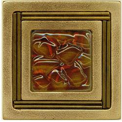 Miila Studios Bronze Monte Carlo 4 x 4 Monte Carlo With Brandy Tile & Stone