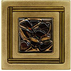 Miila Studios Bronze Monte Carlo 4 x 4 Monte Carlo With Earth Crystal Tile & Stone