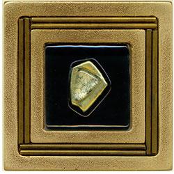 Miila Studios Bronze Monte Carlo 4 x 4 Monte Carlo With Green Amber Tile & Stone