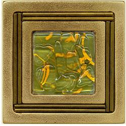Miila Studios Bronze Monte Carlo 4 x 4 Monte Carlo With Green Tiger Tile & Stone