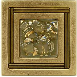 Miila Studios Bronze Monte Carlo 4 x 4 Monte Carlo With Grey Dawn Tile & Stone