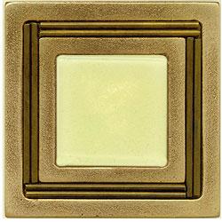 Miila Studios Bronze Monte Carlo 4 x 4 Monte Carlo With Light Lemon Tile & Stone