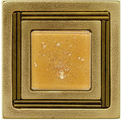 Miila Studios Bronze Monte Carlo 4 x 4 Monte Carlo With Peach Ice Tile & Stone