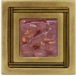 Miila Studios Bronze Monte Carlo 4 x 4 Monte Carlo With Purple Haze Tile & Stone
