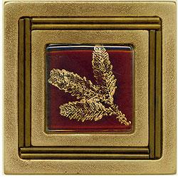 Miila Studios Bronze Monte Carlo 4 x 4 Monte Carlo With Small Fern Tile & Stone