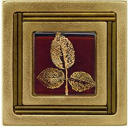 Miila Studios Bronze Monte Carlo 4 x 4 Monte Carlo With Small Leaves Tile & Stone