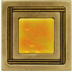 Miila Studios Bronze Monte Carlo 4 x 4 Monte Carlo With Sunburst Tile & Stone