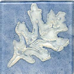Miila Studios Elements Glass Tile 4 x 4 Oak Blue/Silver Tile & Stone