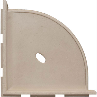 Questech Portico Bath Accessories Travertine Corner Shelf 8 Inch Tile & Stone