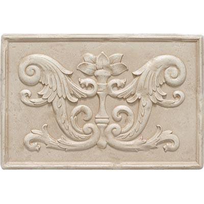 Questech Dorset Decoratives - Travertine Fiddlehead Mural Tile & Stone