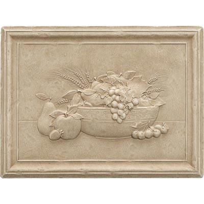 Questech Dorset Decoratives - Travertine Fruit Bowl Mural Tile & Stone