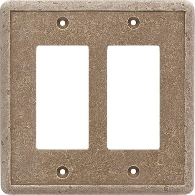 Questech Dorset Switch Plates - Noche Double GFCI Tile & Stone
