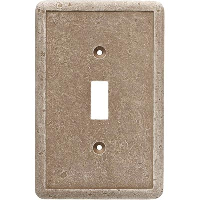 Questech Dorset Switch Plates - Noche Single Toggle Tile & Stone