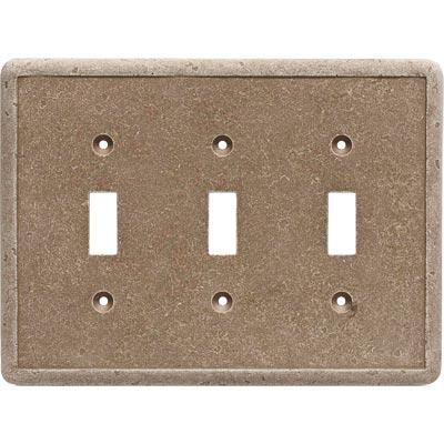 Questech Dorset Switch Plates - Noche Triple Toggle Tile & Stone