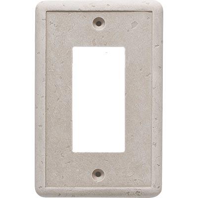 Questech Dorset Switch Plates - Travertine Single GFCI Tile & Stone