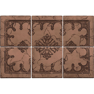 Questech Minted Metals Mural Hermitage Bronze Tile & Stone
