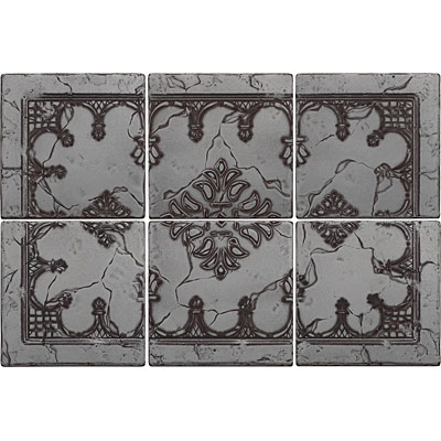 Questech Minted Metals Mural Hermitage Nickel Tile & Stone