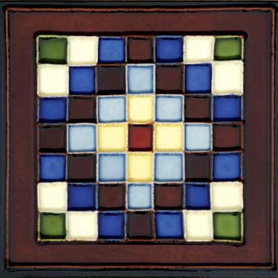 Solistone Hand Painted Mission Deco Tiles 6 x 6 Cuadros Tile & Stone