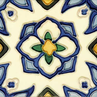 Solistone Hand Painted Mission Deco Tiles 6 x 6 Jirasol Tile & Stone
