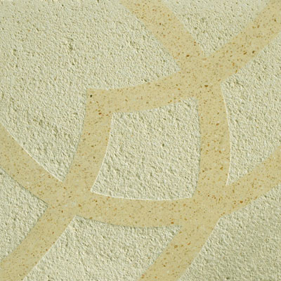 Solistone Terrazzo Etched 15 x 15 Firenze Luce Tile & Stone
