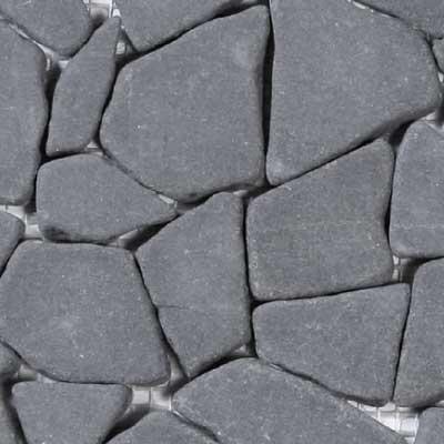 Solistone Charcoal Sandstone Charcoal Irregular Mosaic Tile & Stone