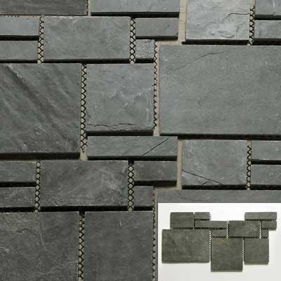 Solistone Versailles Slate 25 x 12 Mansart Tile & Stone