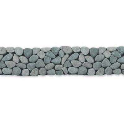 Solistone River Rock Border 4 x 39 River Gray Tile & Stone