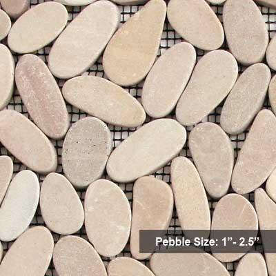 Solistone Flat Pebbles 12 x 12 Madura Sands Tile & Stone