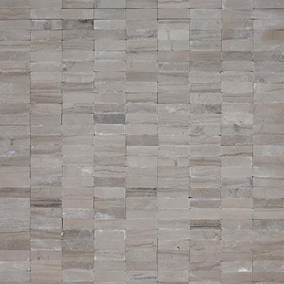 Solistone Haisa Marble Flat Stacked 12 x 12 Haisa Dark Flat Stacked Tile & Stone