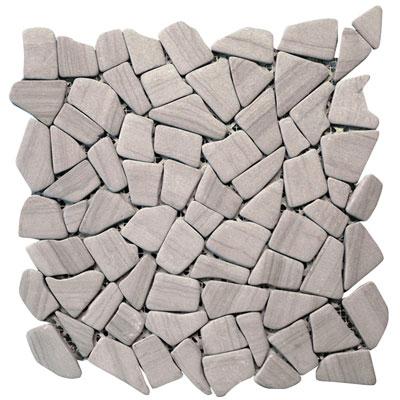 Solistone Haisa Marble Irregular Mosaic 12 x 12 Haisa Dark Irregular Mosaic Tile & Stone