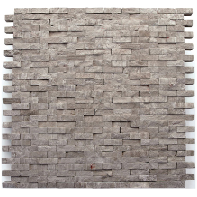 Solistone Haisa Marble Split Face 12 x 12 Haisa Dark Split Face Mosaic Tile & Stone