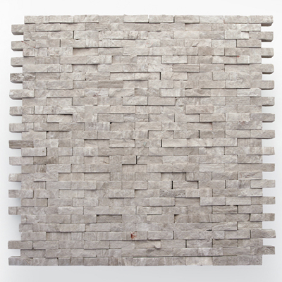 Solistone Haisa Marble Split Face 12 x 12 Haisa Light Split Face Mosaic Tile & Stone