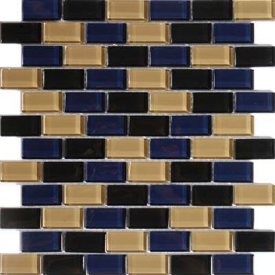 Tesoro Aqua Blends 1 x 2 Crystal Mosaics Madagascar Tile & Stone
