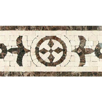Tesoro Decorative Collection - Florence 6 x 11.75 Listello Polished Noce Tile & Stone